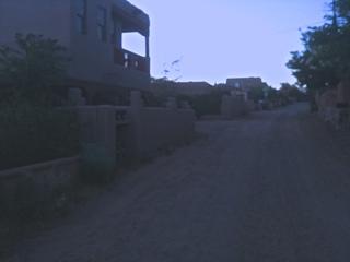 Desert road in Santa Fe